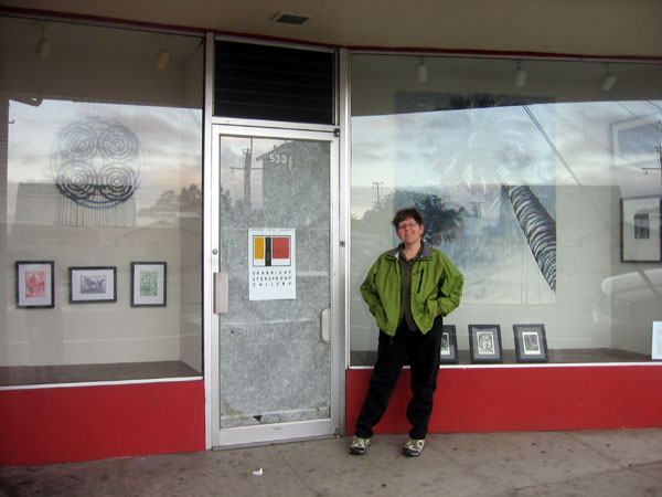 Me in front of the Seabright Storefront Gallery show