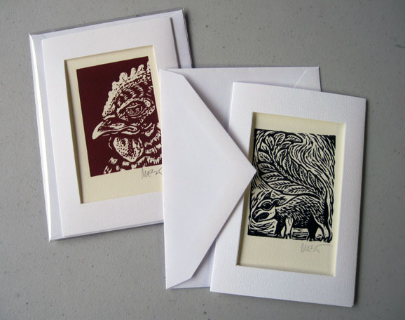 Mini lino cards