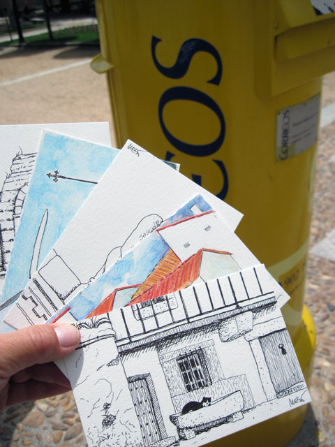 More postcards wend their way to the USA
