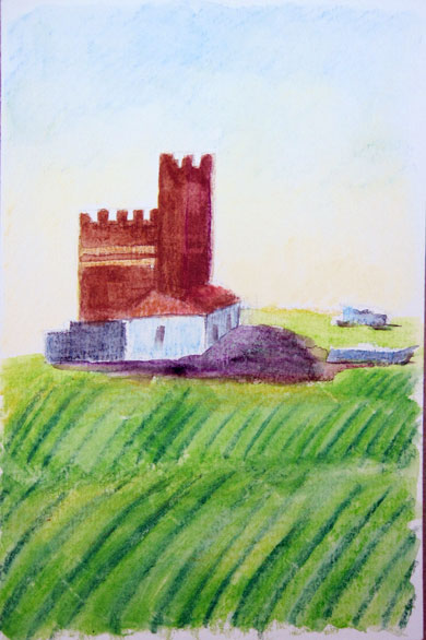 Castle in fields, Guillena