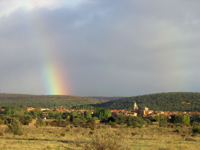Rainbow on the Camino