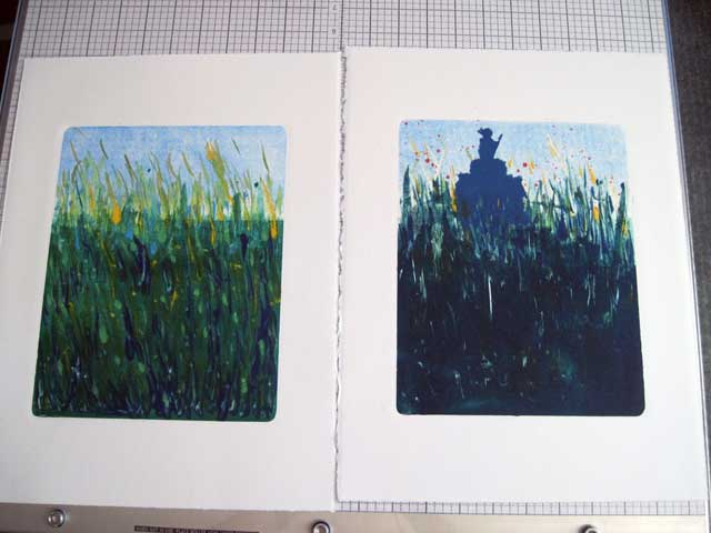 Two versions of grass