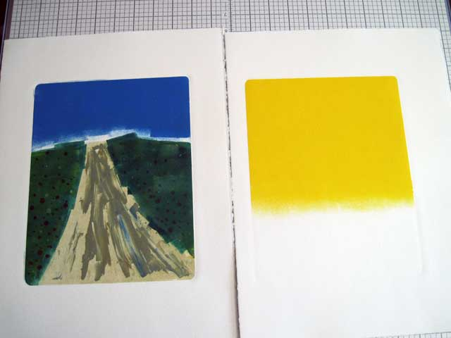 Trail and yellow backgrounds