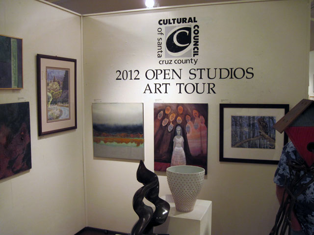 Open Studios wall sign at the Santa Cruz Art League