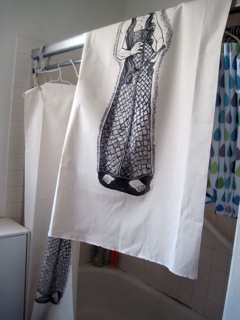 Drying the prints in the bathroom