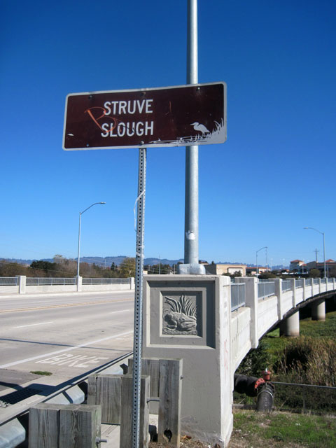 Slough sign and art