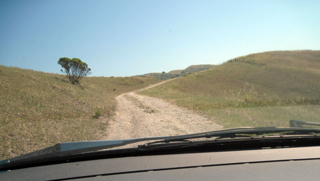 Driving in to Star Creek Ranch.