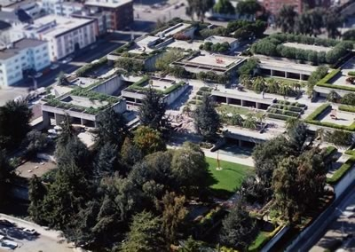 Overhead view of the Oakland Museum of California