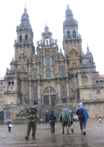 Arrival in Santiago de Compostela