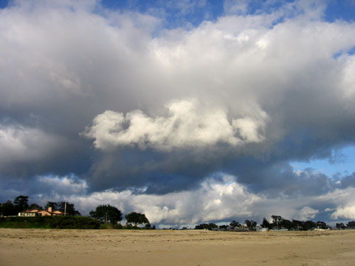 Clouds above the beach